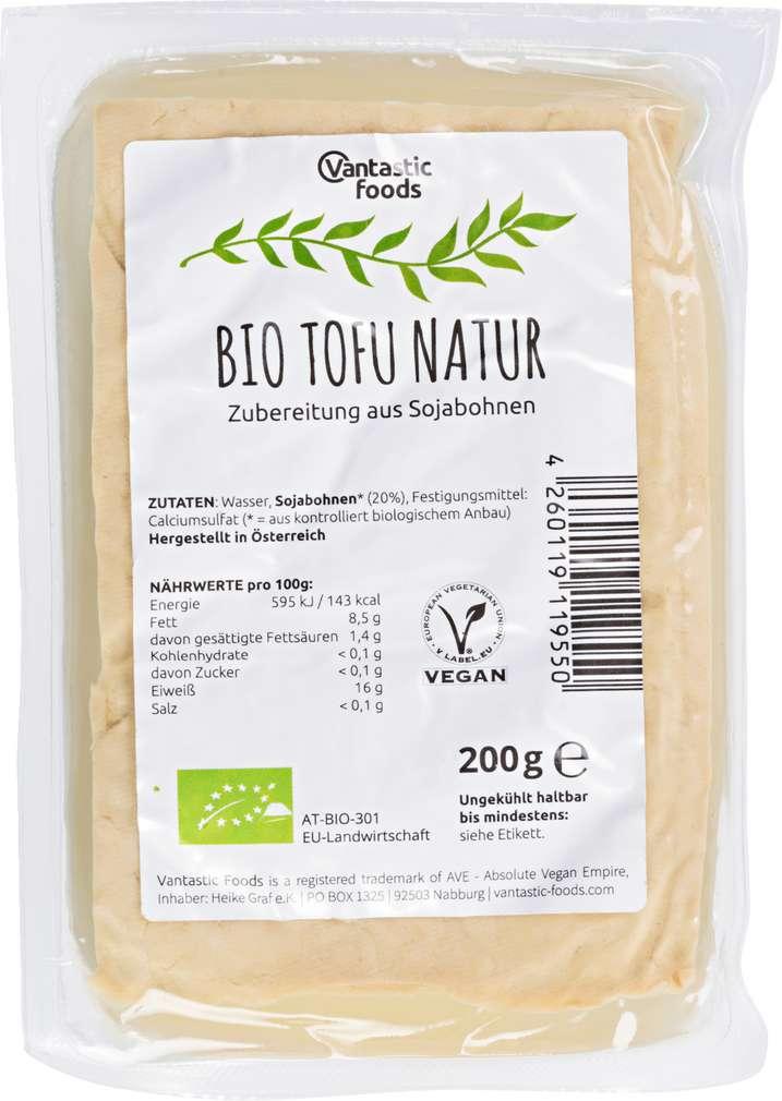 Abbildung des Sortimentsartikels Vantastic Foods Bio Tofu Natur 200g
