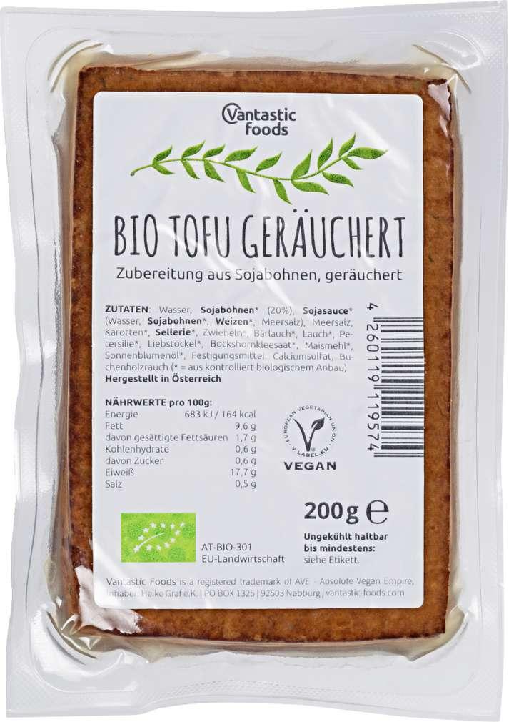 Abbildung des Sortimentsartikels Vantastic Foods Bio Tofu Geräuchert 200g