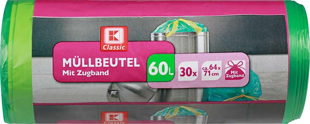 Abbildung des Sortimentsartikels K-Classic Zugband-Müllbeutel 60l 30Stück