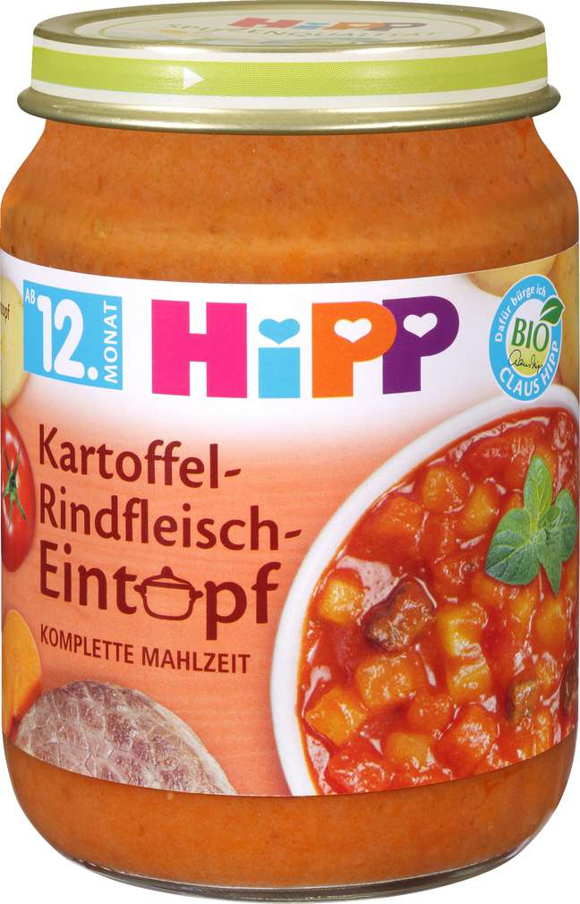 Abbildung des Sortimentsartikels Hipp Kartoffel-Rindfleisch-Eintopf 250g