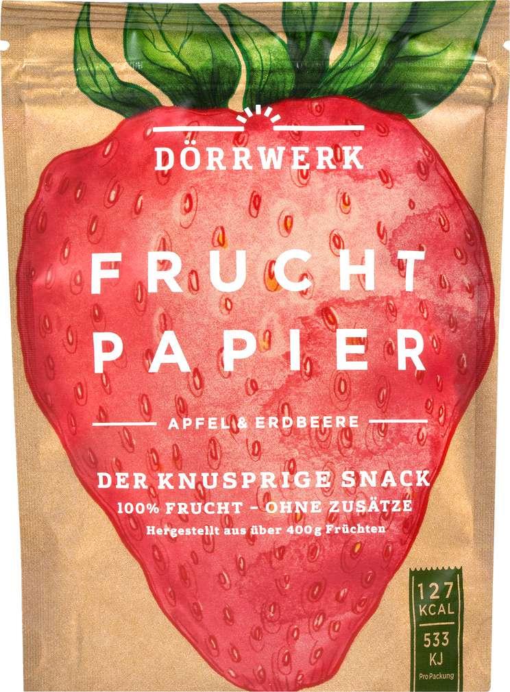 Abbildung des Sortimentsartikels Dörrwerk Fruchtpapier Apfel Erdbeere 40g