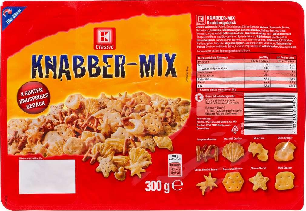 Abbildung des Sortimentsartikels K-Classic Knabber-Mix 300g