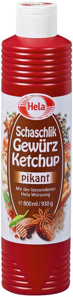 Abbildung des Sortimentsartikels Hela Schaschlik Gewürz-Ketchup pikant 800ml