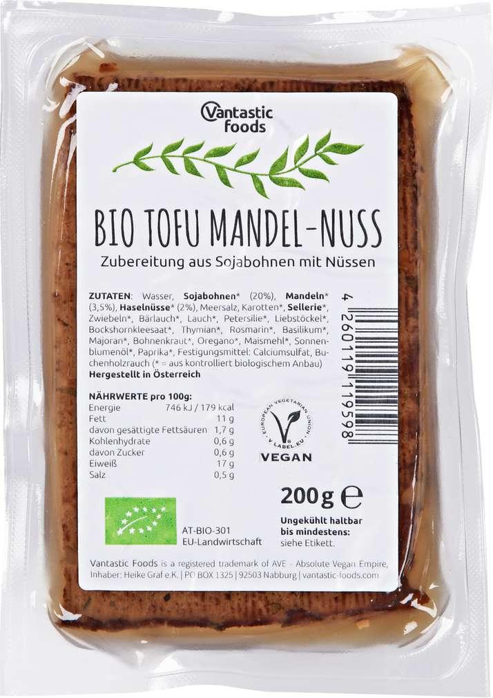 Abbildung des Sortimentsartikels Vantastic Foods Bio Tofu Mandel-Nuss 200g