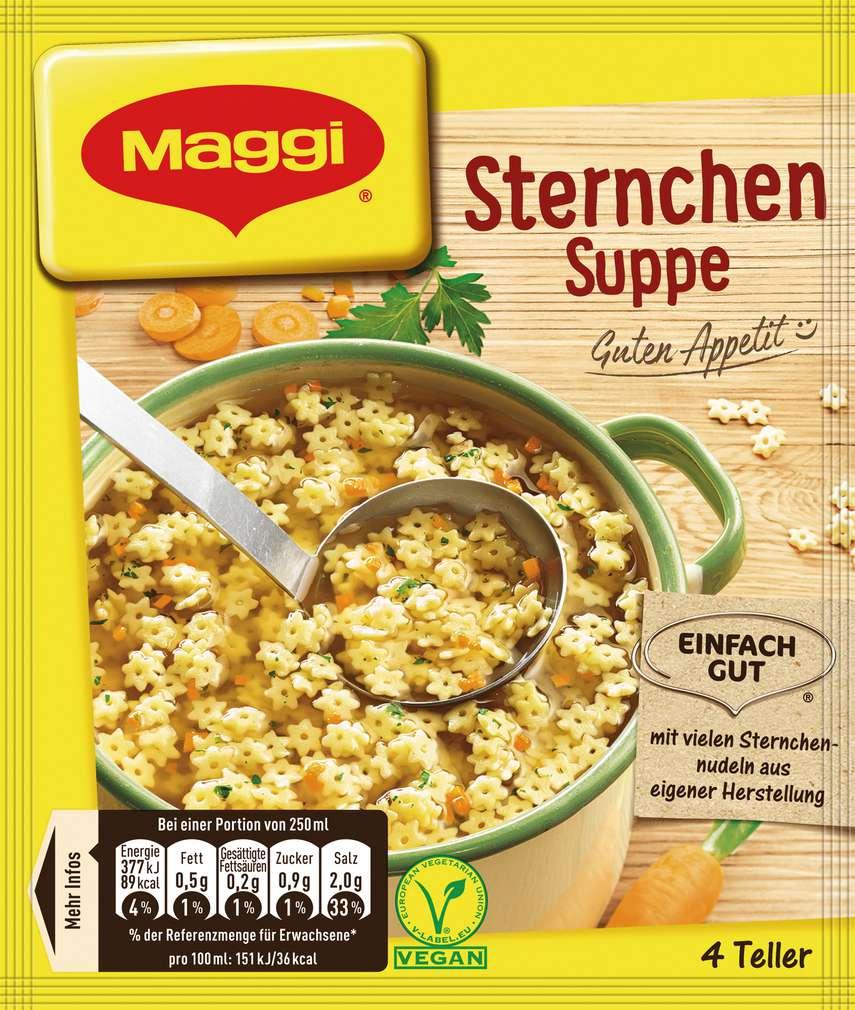Abbildung des Sortimentsartikels Maggi Guten Appetit Sternchen Suppe ergibt 1l
