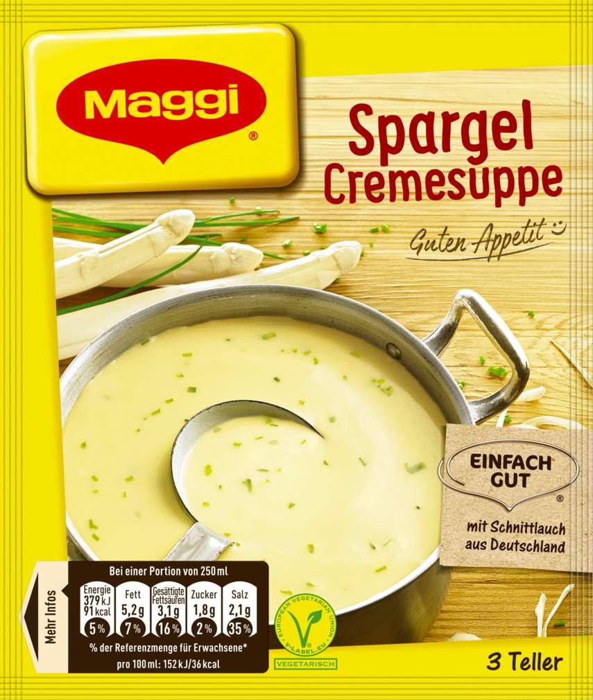 Abbildung des Sortimentsartikels Maggi Guten Appetit Spargelcreme Suppe ergibt 750ml