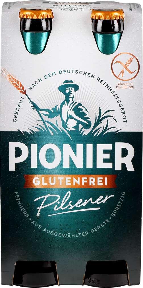 Abbildung des Sortimentsartikels Pionier Pilsener glutenfrei 6x0,33l