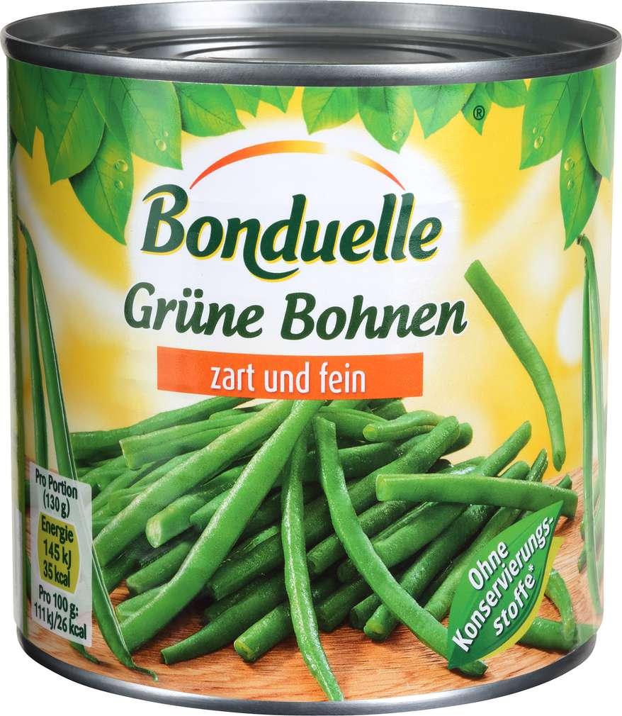 Abbildung des Sortimentsartikels Bonduelle Grüne Bohnen zart und fein 400g
