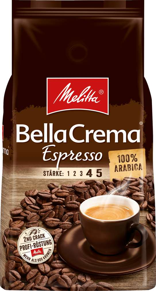 Abbildung des Sortimentsartikels Melitta Espresso ganze Bohnen 1000g