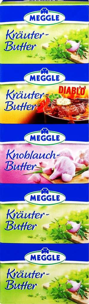 Abbildung des Sortimentsartikels Meggle Kräuterbutter portioniert 5x20g