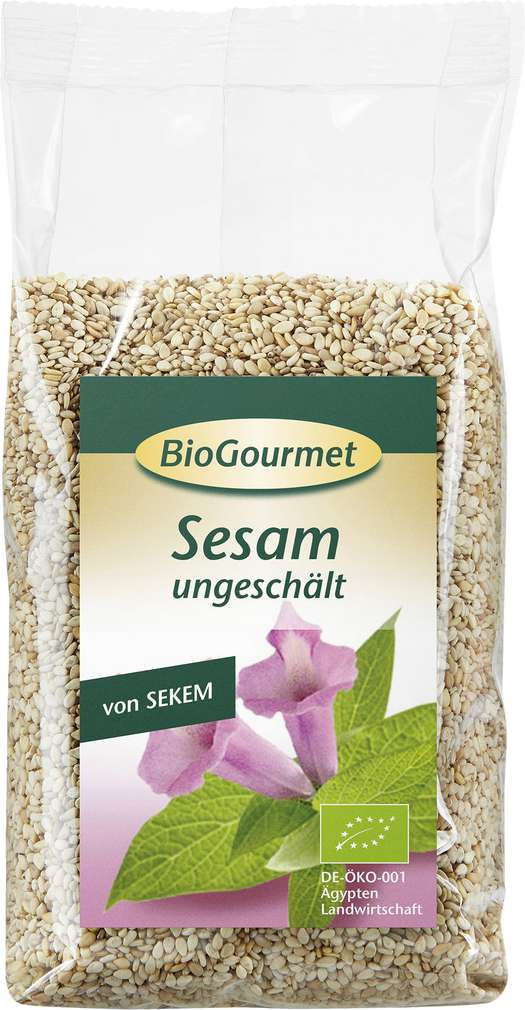 Abbildung des Sortimentsartikels BioGourmet Bio-Sesam ungeschält 250g