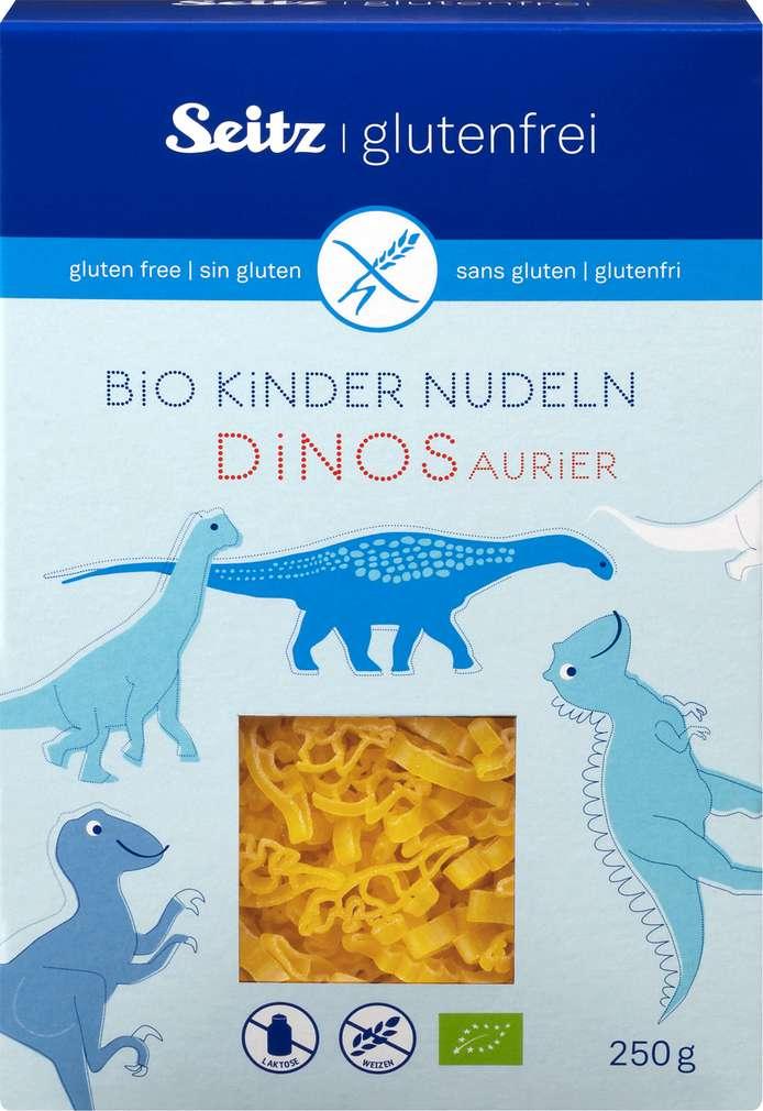 Abbildung des Sortimentsartikels Seitz glutenfrei Bio Kindernudeln Dinosaurier 250g