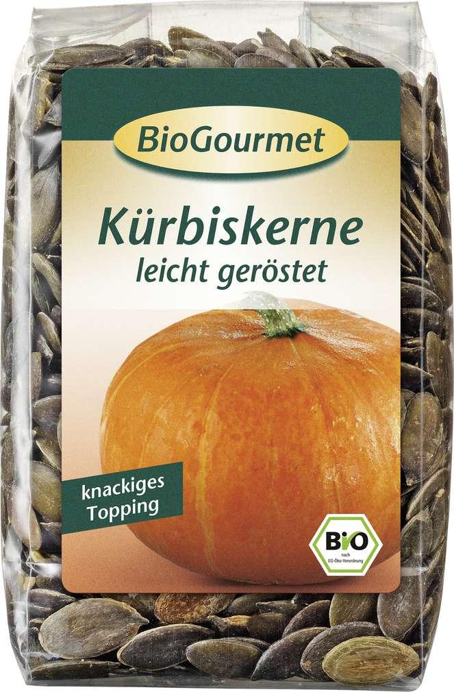 Abbildung des Sortimentsartikels BioGourmet Bio-Kürbiskerne geröstet 200g