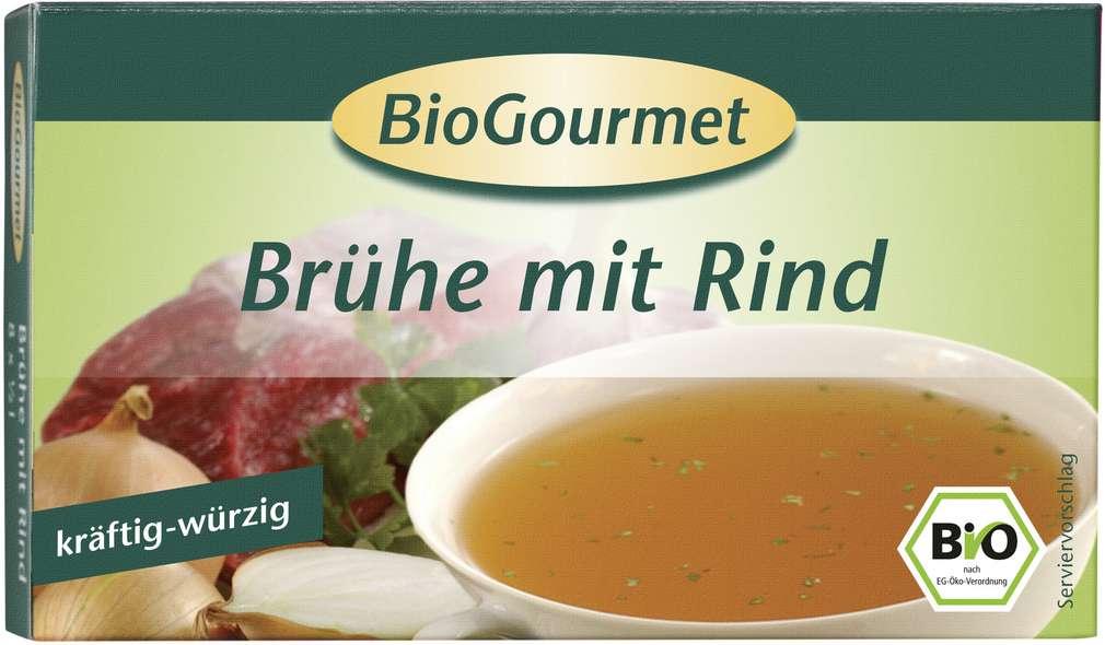 Abbildung des Sortimentsartikels BioGourmet BioGourmet Bio-Brühe mit Rind 96g