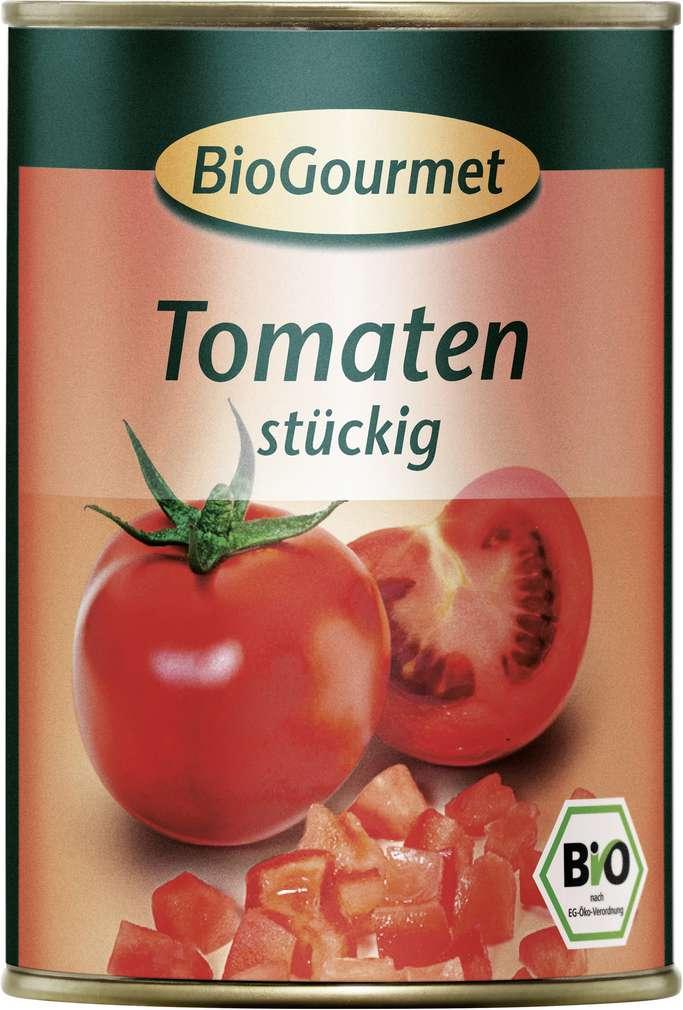 Abbildung des Sortimentsartikels BioGourmet Bio-Tomaten stückig 400g