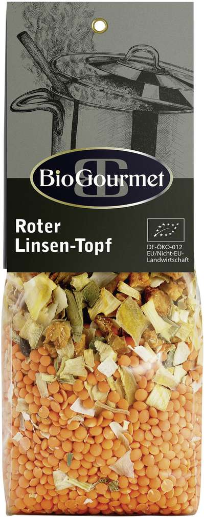 Abbildung des Sortimentsartikels BioGourmet Bio-Linsen-Topf Rot 250g