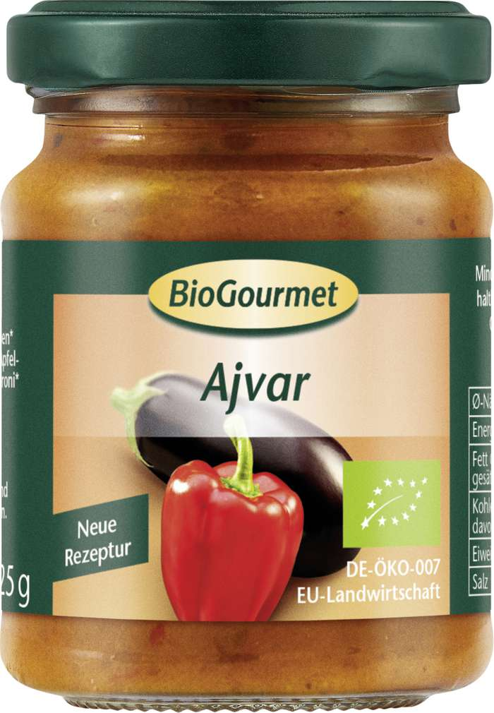 Abbildung des Sortimentsartikels BioGourmet BioGourmet Bio-Ajvar 125g