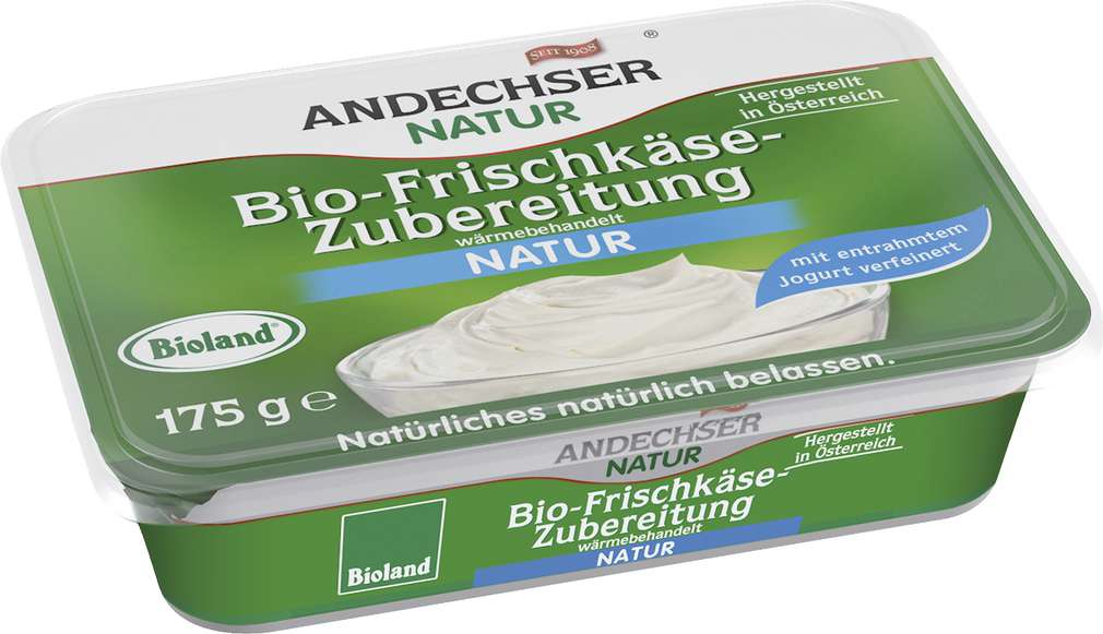 Abbildung des Sortimentsartikels Andechser Natur Bio-Frischkäse 65% Fett 175g