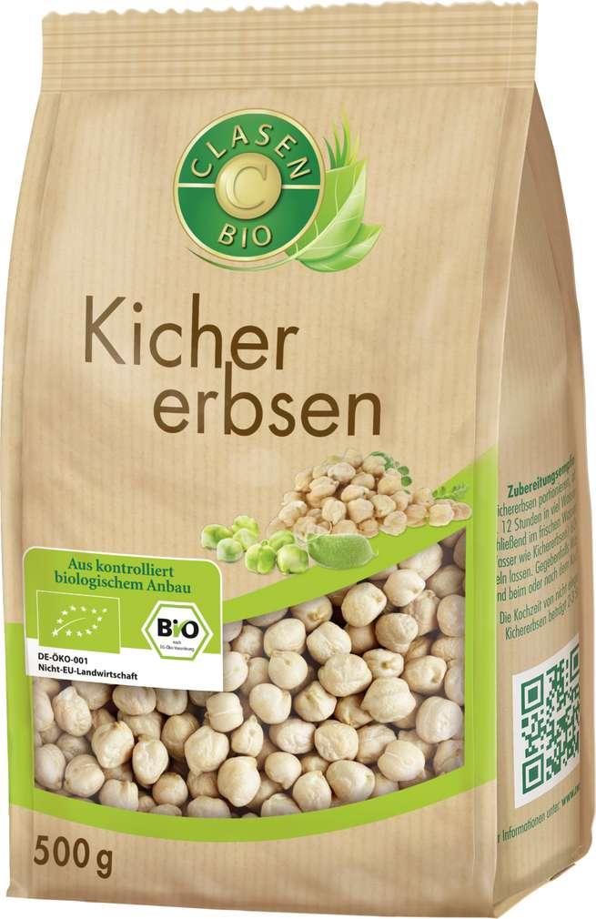 Abbildung des Sortimentsartikels Clasen Bio Kichererbsen vegan 500g