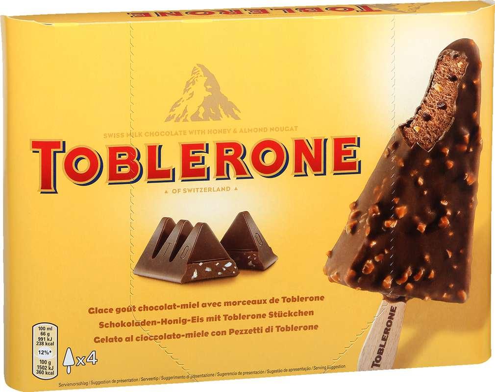 Abbildung des Sortimentsartikels Toblerone Stieleis 400ml, 4 Stück