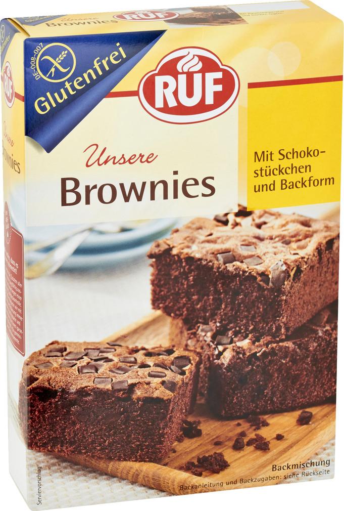 Abbildung des Sortimentsartikels Ruf Unsere Brownies glutenfrei 420g
