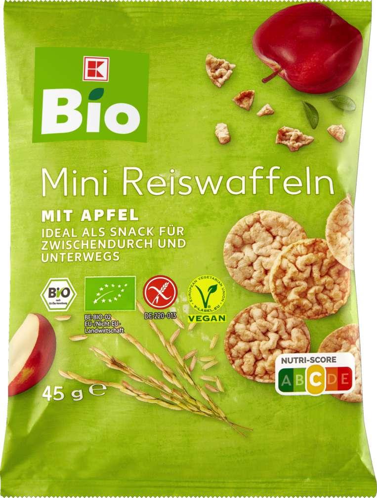 Abbildung des Sortimentsartikels K-Bio Mini Reiswaffeln Apfel 45g