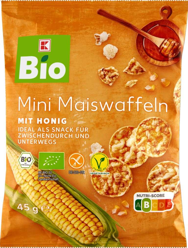 Abbildung des Sortimentsartikels K-Bio Mini Maiswaffeln Honig 45g
