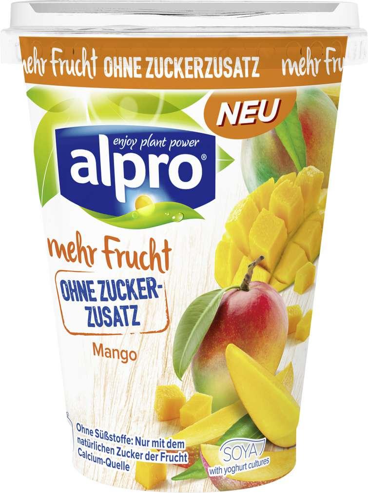Abbildung des Sortimentsartikels Alpro Soja-Joghurtalternative Mango mit Mehrfrucht 400g