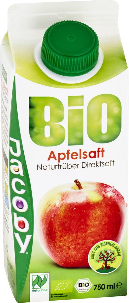 Abbildung des Sortimentsartikels Jacoby Bio Apfeldirektsaft naturtrüb 0,75l