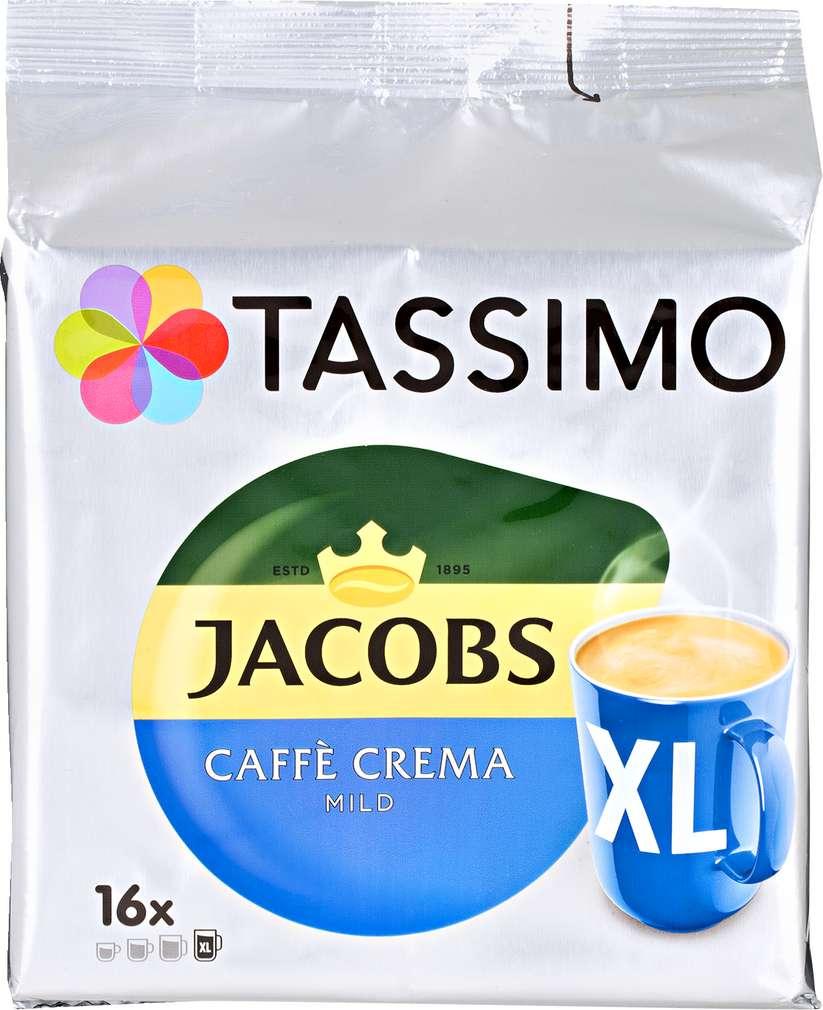 Abbildung des Sortimentsartikels Jacobs Tassimo Caffè Crema Mild XL 128g, 16 Kapseln