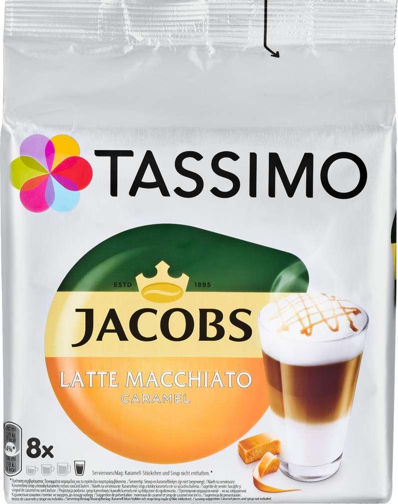 Abbildung des Sortimentsartikels Jacobs Tassimo Latte Macchiato Caramel 268g, 2x8 Kapseln