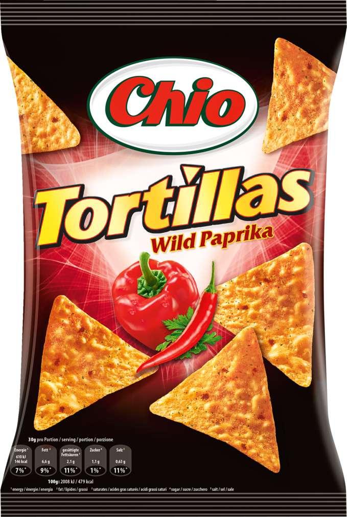 Abbildung des Sortimentsartikels Chio Tortilla Chips Wild Paprika 125g