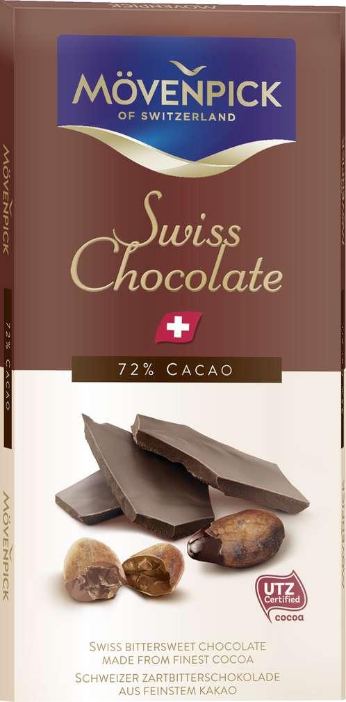 Abbildung des Sortimentsartikels Choco Gourmet Mövenpick Dunkle Schokolade 70g