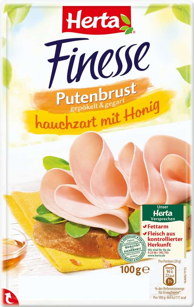 Abbildung des Sortimentsartikels Herta Finesse Putenbrust hauchzart mit Honig 100g