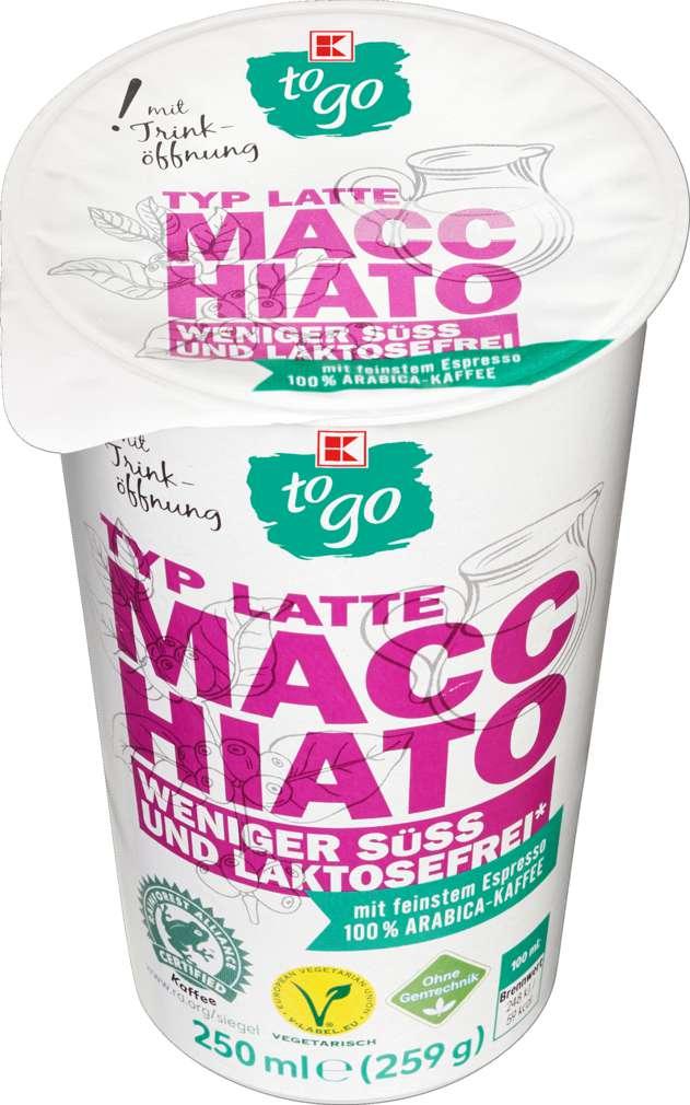 Abbildung des Sortimentsartikels K-To Go Latte Macchiato weniger süß 250ml