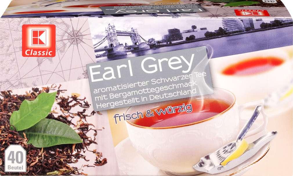 Abbildung des Sortimentsartikels K-Classic Earl Grey Schwarztee 70g, 40 Beutel