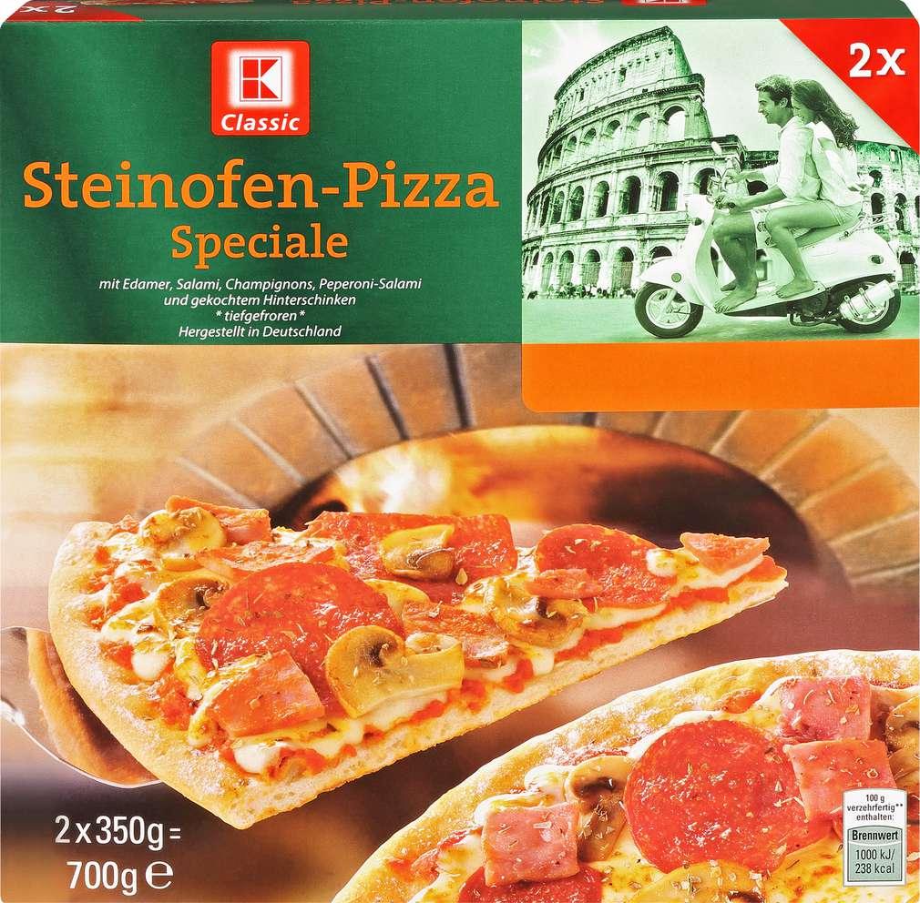 Abbildung des Sortimentsartikels K-Classic Steinofen-Pizza Speciale 700g, 2 Stück