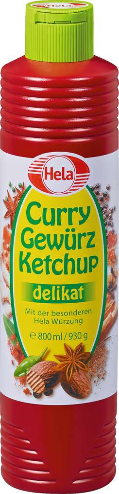 Abbildung des Sortimentsartikels Hela Curry Gewürz Ketchup delikat 800ml