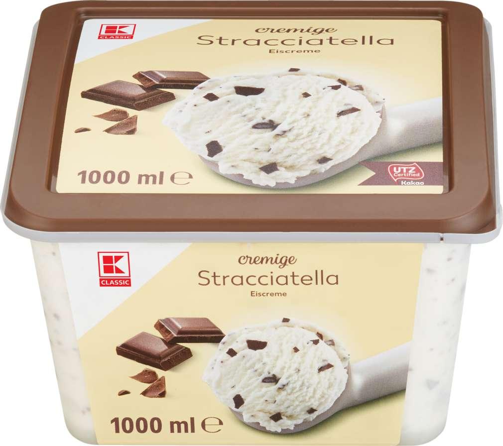 Abbildung des Sortimentsartikels K-Classic Eis Stracciatella 1000ml