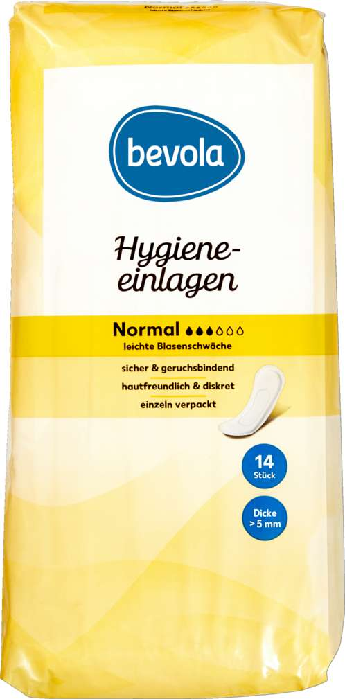 Abbildung des Sortimentsartikels Bevola Hygieneeinlagen Normal 14 Stück
