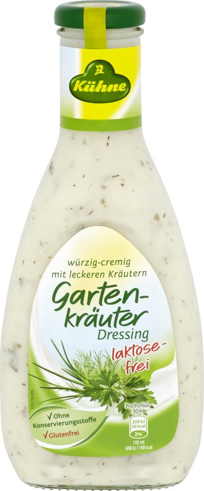 Abbildung des Sortimentsartikels Kühne Gartenkräuter Dressing Laktosefrei 500ml