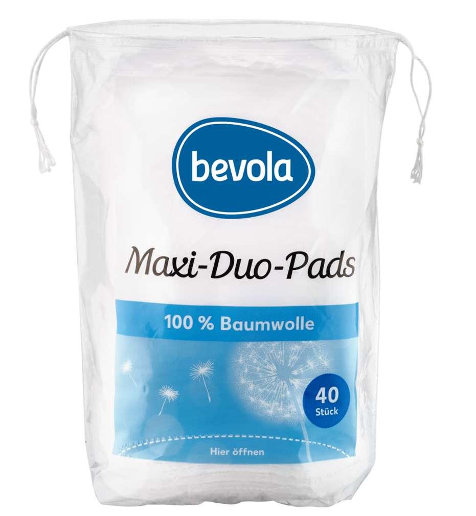 Abbildung des Sortimentsartikels Bevola Wattepads Maxi Duo 40 Stück