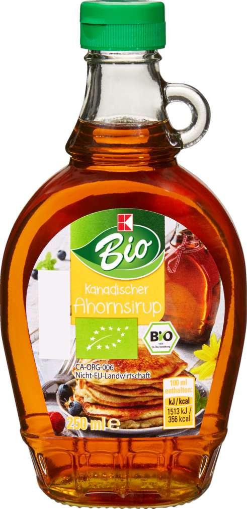 Abbildung des Sortimentsartikels K-Bio Bio-Ahornsirup 250ml