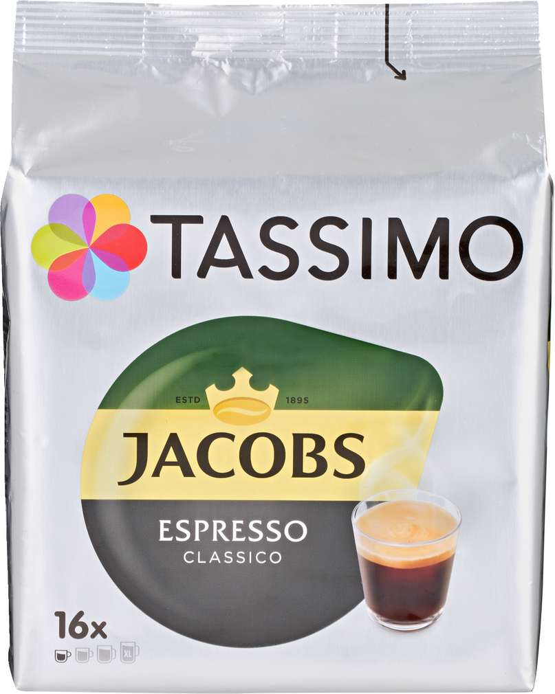 Abbildung des Sortimentsartikels Jacobs Tassimo Espresso Classico 118,4g, 16 Kapseln