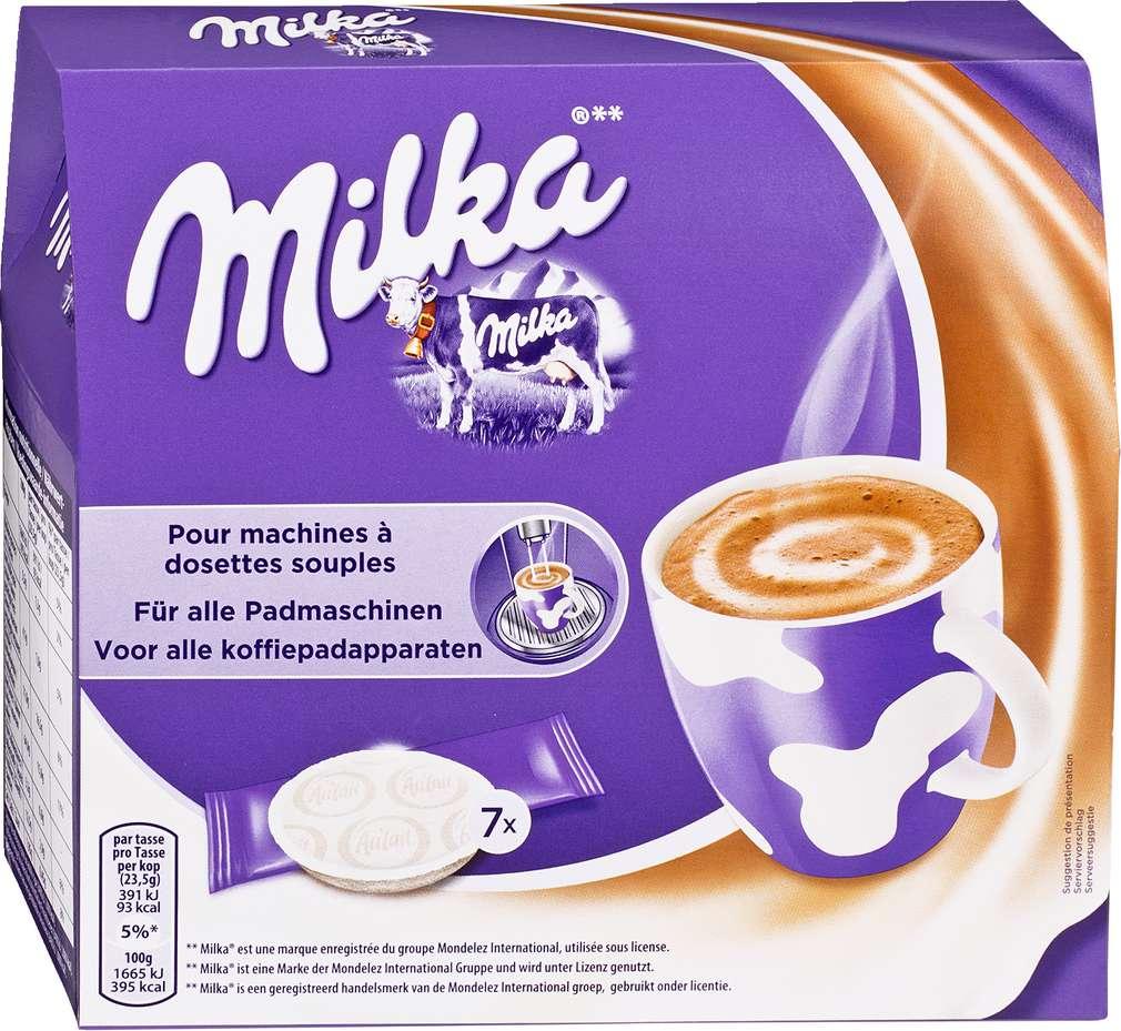 Abbildung des Sortimentsartikels Milka 164,5g, 2x7 Pads