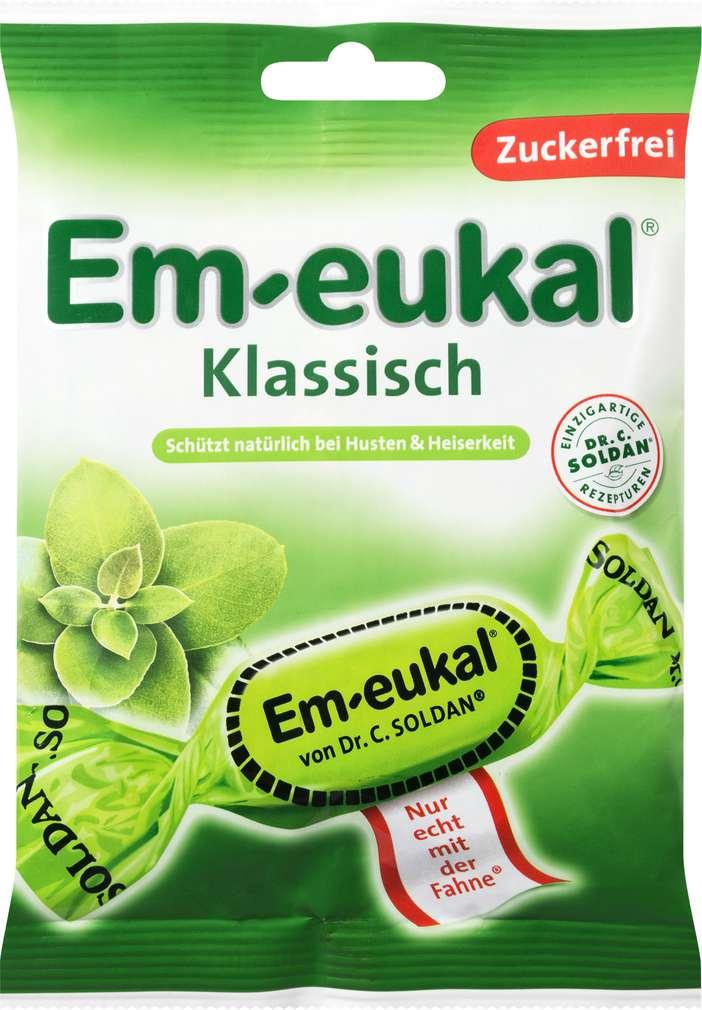 Abbildung des Sortimentsartikels Em-eukal Klassisch Zuckerfrei 75g