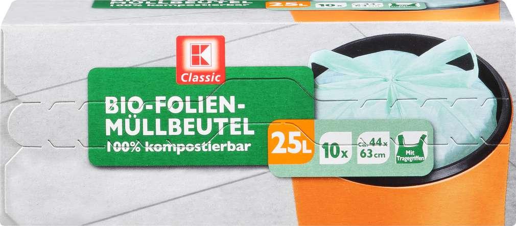 Abbildung des Sortimentsartikels K-Classic Biofolienmüllbeutel 25 Liter 10 Stück