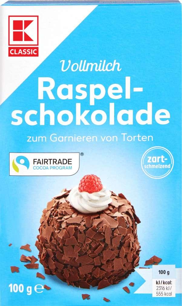 Abbildung des Sortimentsartikels K-Classic Raspelschokolade Vollmilch 100g