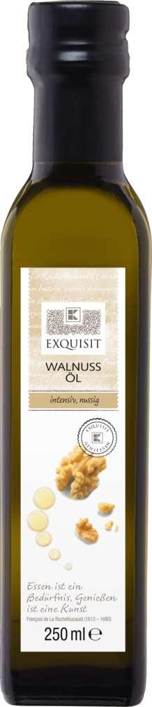 Abbildung des Sortimentsartikels Exquisit Walnuss-Öl intensiv nussig 250ml