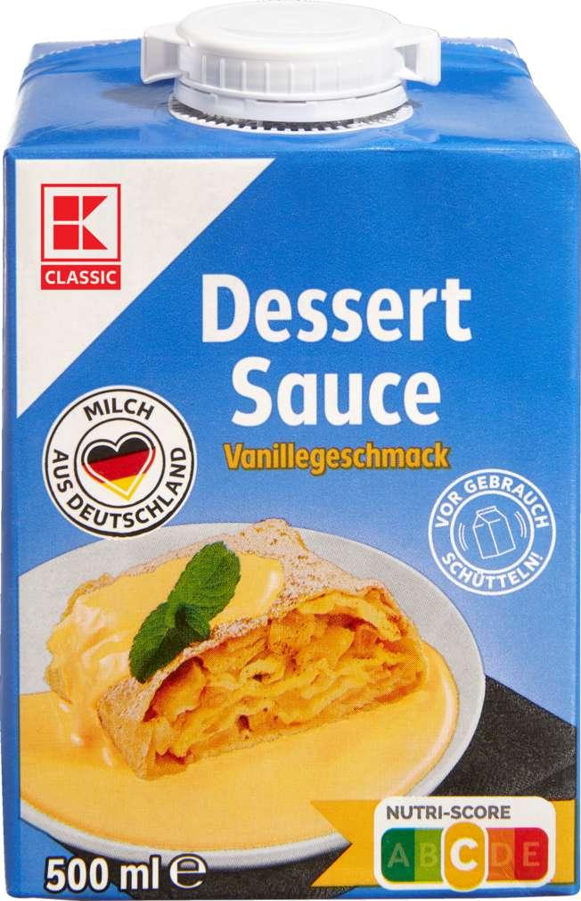 Abbildung des Sortimentsartikels K-Classic Dessert-Soße Vanille 3,5%Fett 500ml